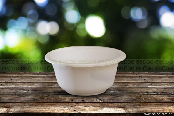 Bowl Biodegradavel 450ml Eecoo - eeCoo sustentabilidade - Tigela 450ml biodegradável