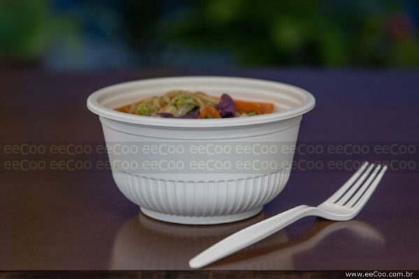 Demonstrativo Bowl 700 Ml Com Tampa Biodegradavel Eecoo - eeCoo sustentabilidade - Tigela 620 ml biodegradável com tampa